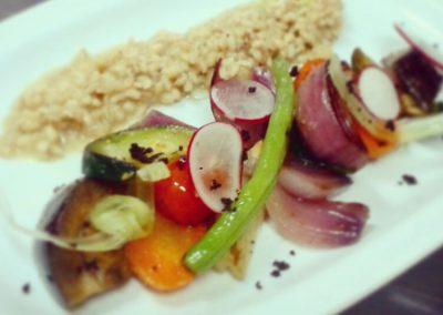 Risotto Cebada con Vegetales Asados